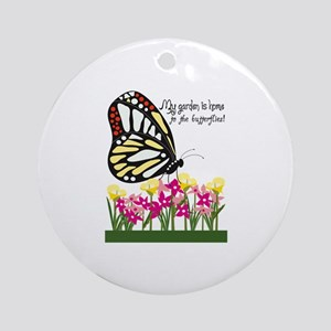 My Garden Is Home To The Butterflies! Ornament (Ro