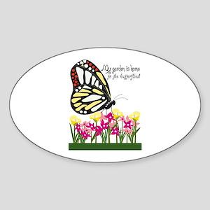 My Garden Is Home To The Butterflies! Sticker