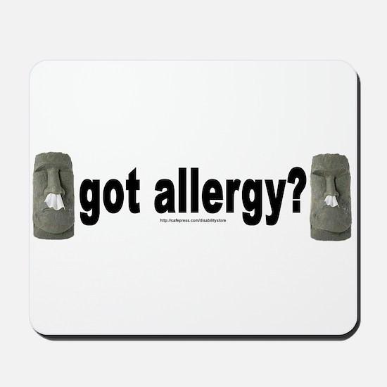 Allergy Moais Mousepad