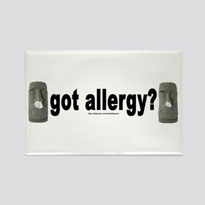 Allergy Moais Rectangle Magnet