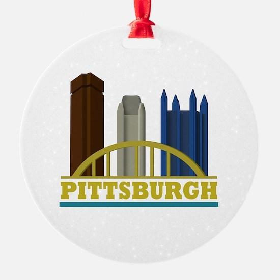 Pittsburgh Pennsylvania Skyline Ornament