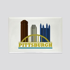 Pittsburgh Pennsylvania Skyline Rectangle Magnet