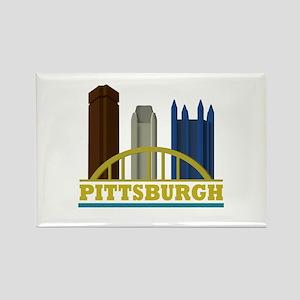 Pittsburgh Pennsylvania Skyline Rectangle Magnet