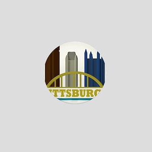 Pittsburgh Pennsylvania Skyline Mini Button
