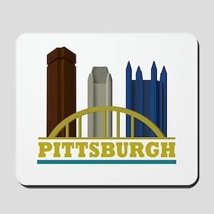 Pittsburgh Pennsylvania Skyline Mousepad