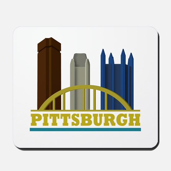 Pittsburgh Pennsylvania Skyline Mousepad