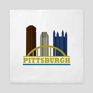 Pittsburgh Pennsylvania Skyline Queen Duvet