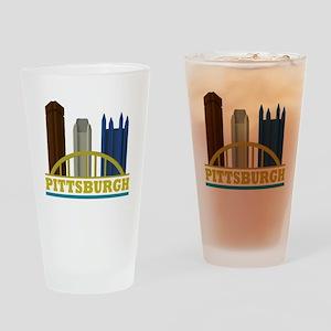 Pittsburgh Pennsylvania Skyline Drinking Glass