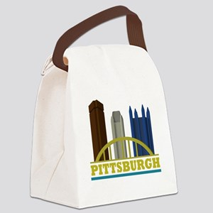 Pittsburgh Pennsylvania Skyline Canvas Lunch Bag