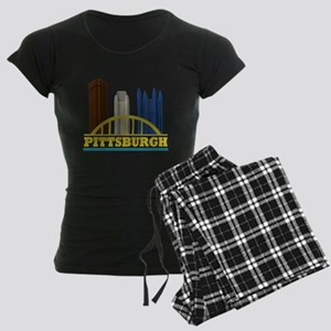 Pittsburgh Pennsylvania Skyl Women's Dark Pajamas