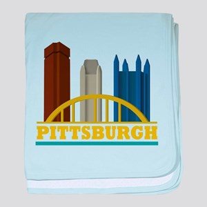Pittsburgh Pennsylvania Skyline baby blanket