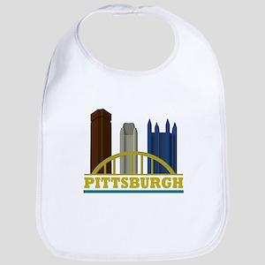 Pittsburgh Pennsylvania Skyline Bib