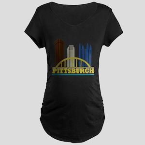 Pittsburgh Pennsylvania Sky Maternity Dark T-Shirt