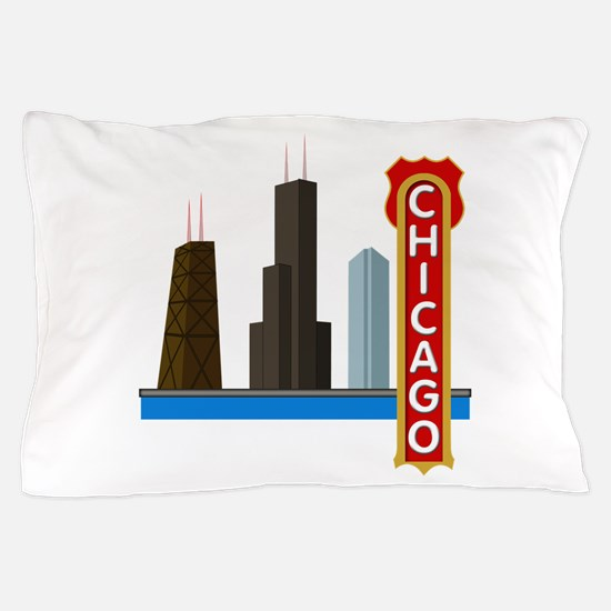 Chicago Illinois Skyline Pillow Case