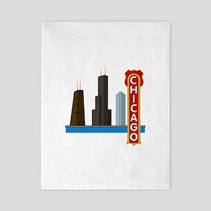 Chicago Illinois Skyline Twin Duvet