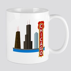 Chicago Illinois Skyline Mug