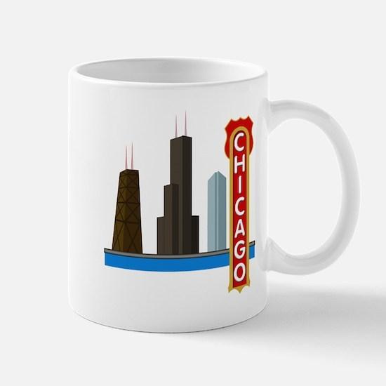 Chicago Illinois Skyline Mug