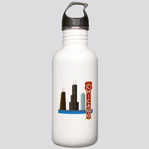 Chicago Illinois Skyli Stainless Water Bottle 1.0L