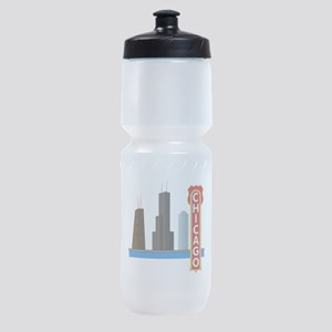 Chicago Illinois Skyline Sports Bottle