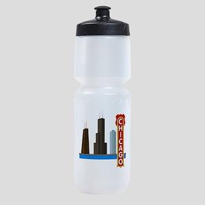 Chicago Illinois Skyline Sports Bottle
