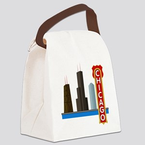 Chicago Illinois Skyline Canvas Lunch Bag