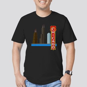 Chicago Illinois Skyli Men's Fitted T-Shirt (dark)