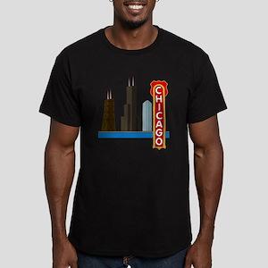 Chicago Illinois Skyli Men's Fitted T-Shirt (dark)
