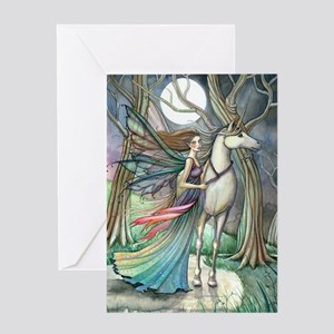 Forest of Dreams Fairy and Unicorn Fantasy Art Gre