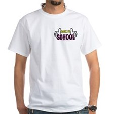 Two Thumbs Up School White T-Shirt
