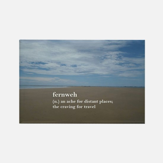 Fernweh Travel Quote Rectangle Magnet