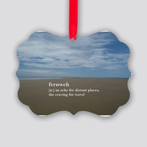Fernweh Travel Quote Picture Ornament