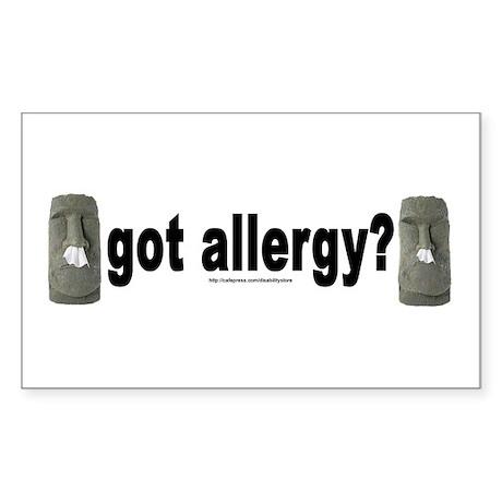 Allergy Moais Rectangle Sticker