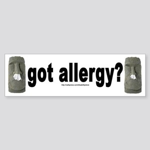 Allergy Moais Bumper Sticker