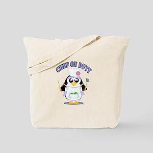 Chef on Duty Penguin female Tote Bag