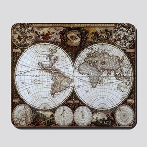 Ancient World Map Mousepad