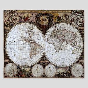 Ancient World Map King Duvet