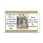 Women and Standards Rectangle Car Magnet