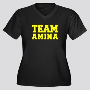 TEAM AMINA Plus Size T-Shirt
