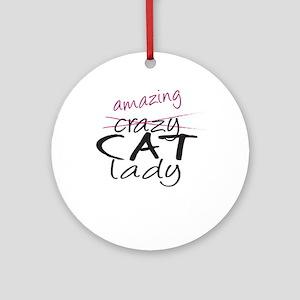 Crazy Cat Lady Ornament (Round)