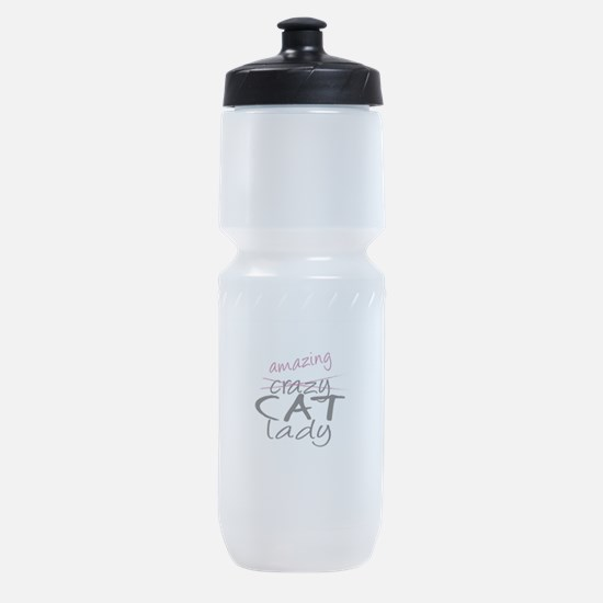 Crazy Cat Lady Sports Bottle