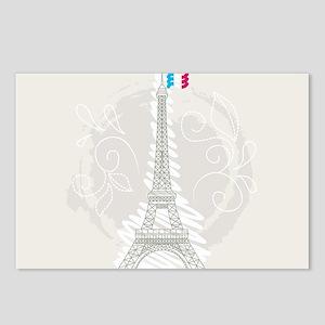 Beautiful Paris Postcards (Package of 8)