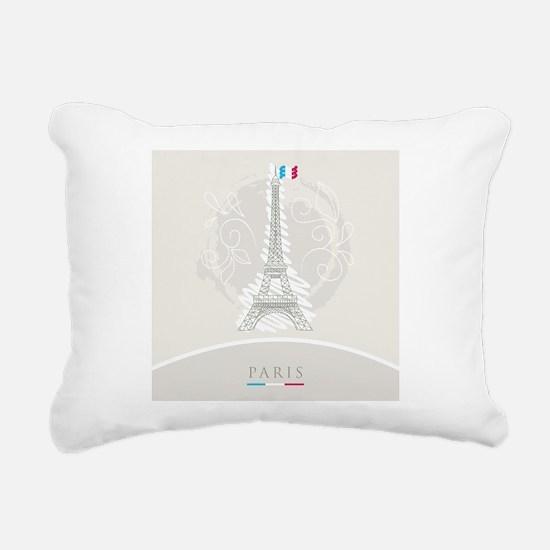 Beautiful Paris Rectangular Canvas Pillow