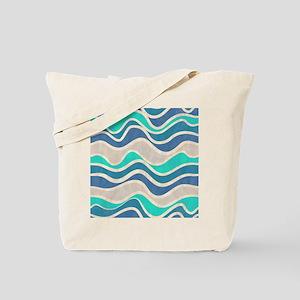 Waves Pattern Tote Bag