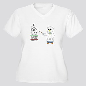 Eye Exam Women's Plus Size V-Neck T-Shirt