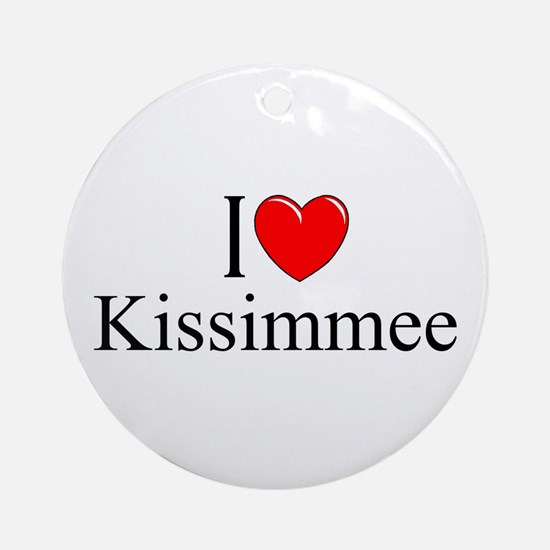 """I Love Kissimmee"" Ornament (Round)"