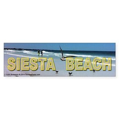 Siesta Beach Bumper Bumper Sticker