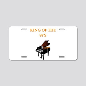 piano player Aluminum License Plate