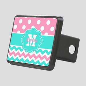 Pink Teal Black Chevron Dots Personalized Hitch Co