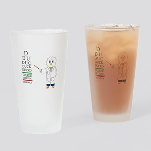 Eye Exam Drinking Glass