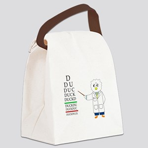Eye Exam Canvas Lunch Bag